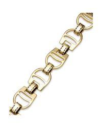 Lauren by Ralph Lauren - Metallic 14k Goldplated Equestrian Stirrup Link Bracelet - Lyst