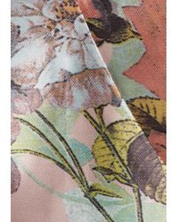Chi Chi London - Blue Floral Print Bardot Dip-hem Dress - Lyst
