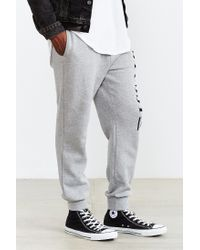 Stussy - Gray Vibe Fleece Jogger Sweatpant for Men - Lyst