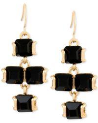 Kenneth Cole | Metallic Gold-tone Stone Chandelier Earrings | Lyst