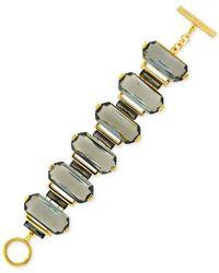 Vince Camuto | Metallic Gold-Tone Baguette Stone Line Bracelet | Lyst