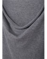 Violeta by Mango - Gray Long Cotton Sweater - Lyst