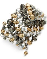 Style & Co. | Multicolor Tri-tone Coil Bracelet | Lyst