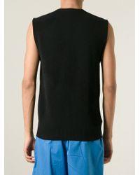 Alexander McQueen - Black Abstract Knit Vest for Men - Lyst