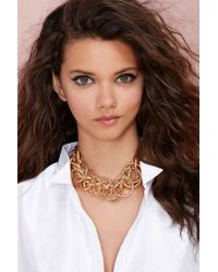 Nasty Gal | Metallic Let It Chain Collar Necklace | Lyst