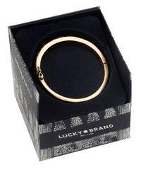 Lucky Brand | Metallic Pave Goldtone Bangle Bracelet | Lyst