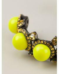 Lanvin - Yellow Beaded Cuff - Lyst