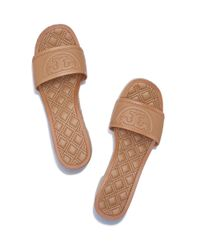 Tory Burch - Brown Fleming Espadrille Slide - Lyst