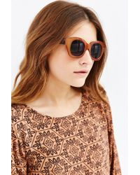 Urban Outfitters - Brown Industrial Chunk Cat-eye Sunglasses - Lyst