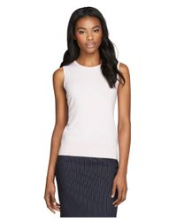 Brooks Brothers - Natural Sleeveless Cashmere Shell - Lyst