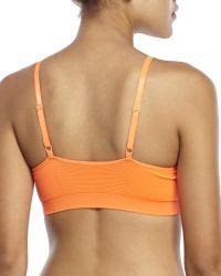 New Balance - Orange T-Shirt Bra - Lyst