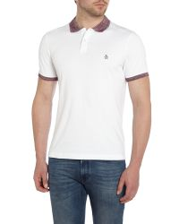 Original Penguin - White Jersey Pique Polo Shirt for Men - Lyst