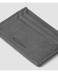 AllSaints - Gray Shard Cardholder Usa Usa for Men - Lyst