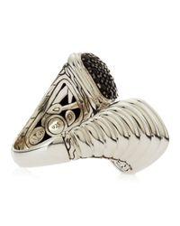 John Hardy - Metallic Bedeg Black Sapphire Lava Bypass Ring - Lyst
