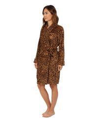 Lauren by Ralph Lauren - Brown Folded So Soft Terry Short Robe - Lyst