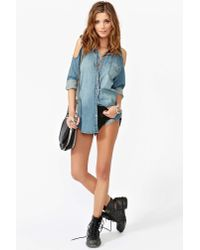Nasty Gal - Black Jeffrey Campbell Rosie Cutout Combat Boot - Lyst