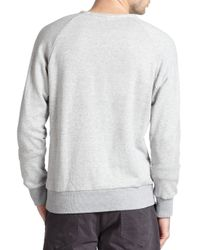 Rag & Bone - Gray Standard Issue French Terry Sweatshirt - Lyst