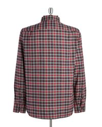 Victorinox | Gray Sterner Plaid Sportshirt for Men | Lyst