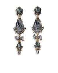 Alexis Bittar - Metallic Elements Prophecy Crystal & Pyrite Doublet Linear Earrings - Lyst