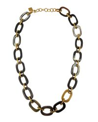 Ashley Pittman | Metallic Dark Horn Chain Link Necklace | Lyst