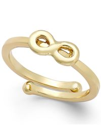 Kate Spade | Metallic Infinity Adjustable Ring | Lyst