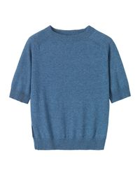 Toast | Blue Cotton Short Sleeved Pullover | Lyst