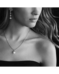 David Yurman - Metallic Starburst Pearl Pendant with Diamonds On Chain - Lyst