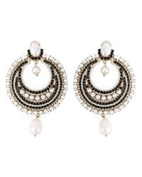 Givenchy | White Pearl Loop Earrings | Lyst