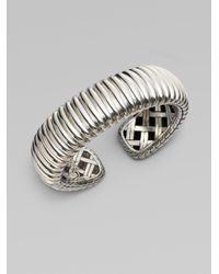 John Hardy | Metallic Ridged Sterling Silver Bracelet | Lyst