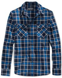 American Rag | Blue Cleaves Plaid Shirt for Men | Lyst