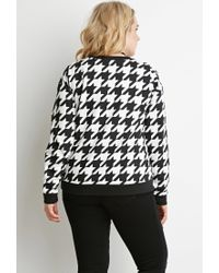 Forever 21 - White Plus Size Houndstooth Print Sweatshirt - Lyst