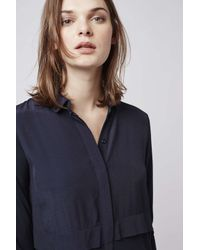 TOPSHOP - Blue Hybrid Shirt Dress - Lyst