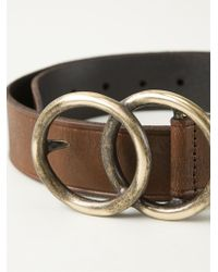Saint Laurent - Brown Ring Buckle Belt - Lyst