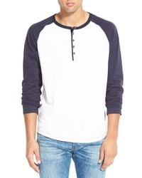 Howe | Gray 'digital Crimes' Long Sleeve Henley for Men | Lyst