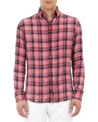 Michael Bastian | Red Check Shirt for Men | Lyst