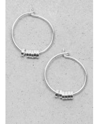 & Other Stories - Metallic Delicate Hoop Earrings - Lyst