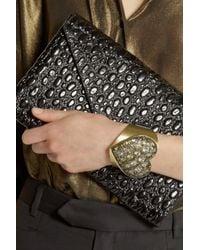 Lanvin - Metallic Mira Goldtone Swarovski Crystal Heart Bracelet - Lyst