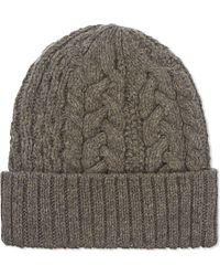 Yohji Yamamoto | Natural Knitted Wool Beanie | Lyst
