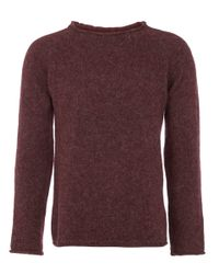 Nudie Jeans | Purple Plum Vladimir Alpaca Melange Knit for Men | Lyst