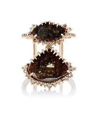 Sharon Khazzam | Brown Paddy Slice Ring | Lyst