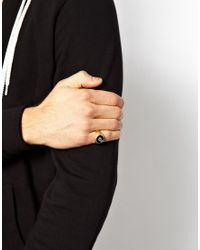 ASOS | Metallic Signet Ring with 8 Ball for Men | Lyst