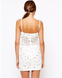 Forever Unique - White Rococo Heavily Embellished Mini Dress - Lyst