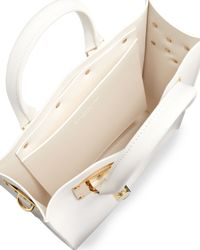 Sophie Hulme - Mini Buckled Leather Tote Bag White - Lyst