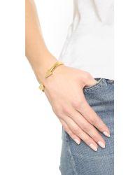 Vita Fede | Metallic Titan Hexagon Crystal Bracelet | Lyst