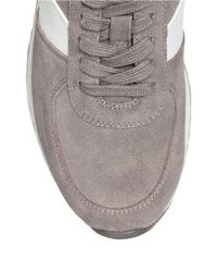 MICHAEL Michael Kors | Gray Allie Suede Training Sneakers | Lyst