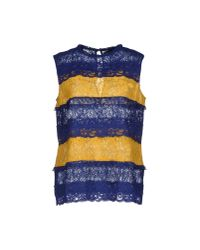 Love Moschino - Blue Top - Lyst