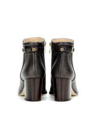 Jimmy Choo - Black Method Metallic Leather Ankle Boots - Lyst