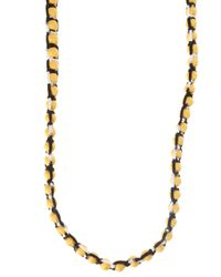 Missoni - Yellow Roped Ball Long Necklace - Lyst