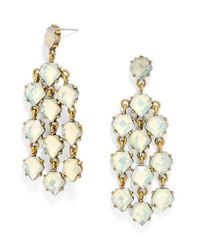 BaubleBar - Metallic 'waterfalls' Chandelier Earrings - Opal/ Antique Gold - Lyst