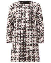 Giambattista Valli - Black Longsleeved Tweed Dress - Lyst